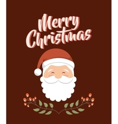 Merry christmas santa claus holiday december vector