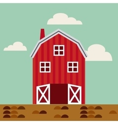 Agriculture production landscape icon vector