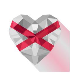 logo symbol of love northern ireland vector image