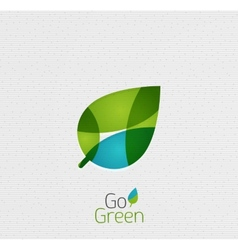 Green leaf nature concept vector