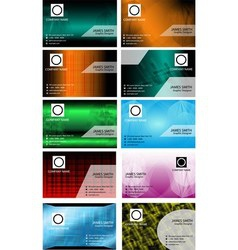 Big set of business card templates vector