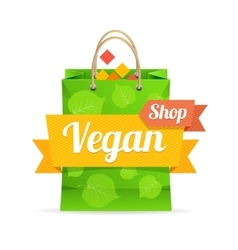 Vegan shop concept vector
