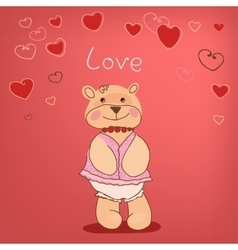 Romantic bears vector