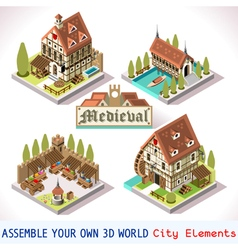 Medieval 03 tiles isometric vector