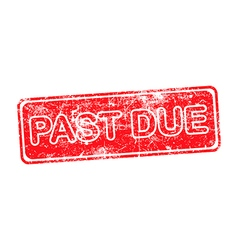 Pass due red grunge rubber stamp vector