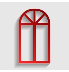 Window simple sign vector