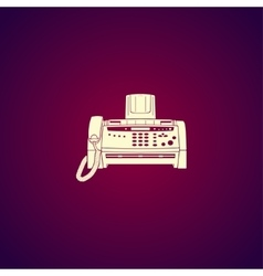 Fax machine flat design style vector