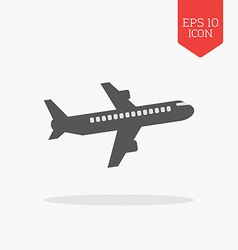 Airliner icon flat design gray color symbol modern vector
