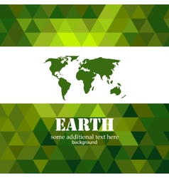 Abstract green Earth mosaic background vector image