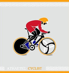 Athlete cyclist vector