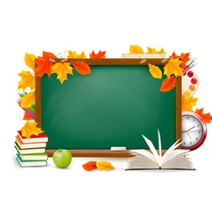 back to school chalk board vector image