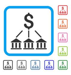 bank association framed icon vector image