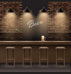 Bar pub interior vector