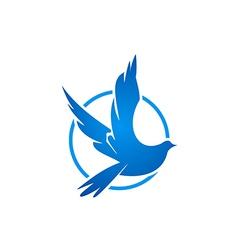 bird fly icon logo vector image vector image
