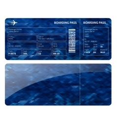 Blue boarding card vector image