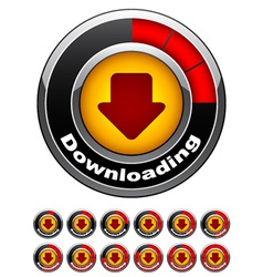 Chrome download buttons vector