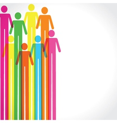 Colorful man icon background vector