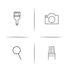 Creative process and design simple linear icon vector