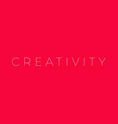 creativity creativity word vector image
