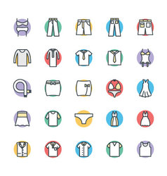 Fashion and clothes cool icons 7 vector