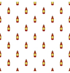 Glass bottle of liquid pattern cartoon style vector