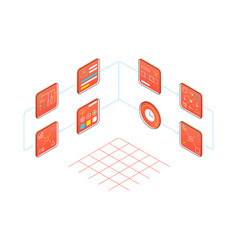 Infographic creating a projec isometric style vector