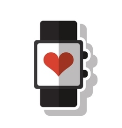 Isolated watch of fitness gym vector