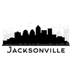 jacksonville city skyline black and white vector image