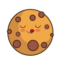 kawaii food icon vector image