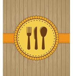 menu cover with kithchen icons vector image