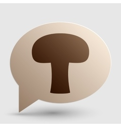 Mushroom simple sign brown gradient icon on vector