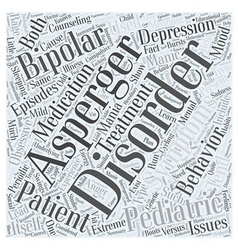 Pediatric bipolar versus asperger word cloud vector