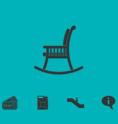 rocking chair icon flat vector image vector image