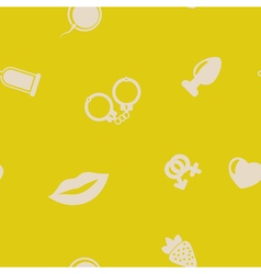 seamless background with sex symbols vector image vector image