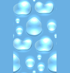seamless texture of water droplets on a blue vector image