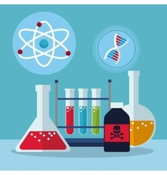 set laboratory research science vector image vector image