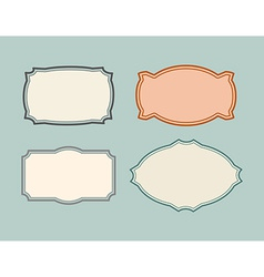 Set vintage frames Retro card vector image
