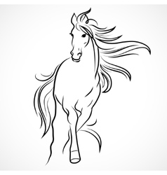 Silhouette of horse vector image vector image