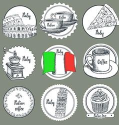 Sketch italian icons vector