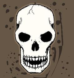 skulll resize vector image vector image