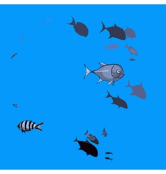 small fish underwater vector image vector image