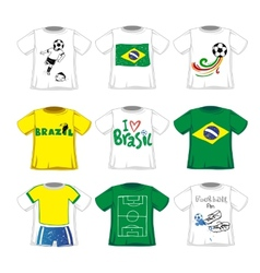 Soccer t-shirts collection vector
