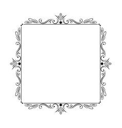 Stylish elegant vintage frame with monograms vector