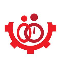 Teamwork concept icon vector