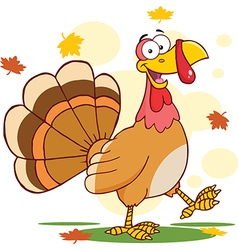 Thanksgiving turkey cartoon vector image vector image