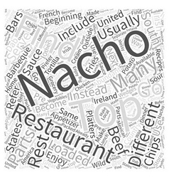 The beginning of nachos and what they have become vector