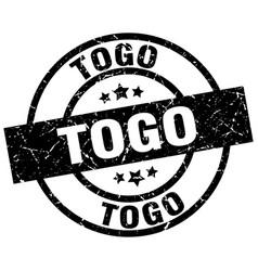 Togo black round grunge stamp vector