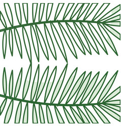 Tropical leafs decorative pattern vector
