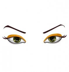 vector beautiful eyes vector image