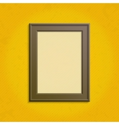 Wooden frame template vector image vector image